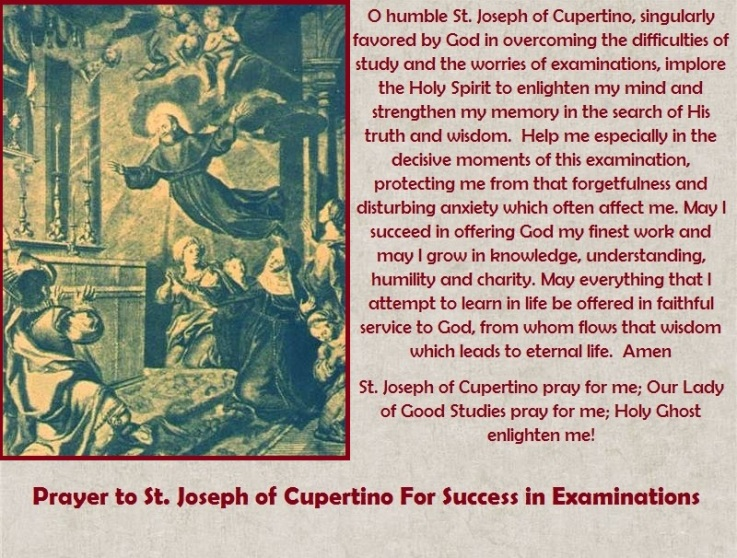 prayer-to-st-joseph-cupertino-for-success-in-examinations