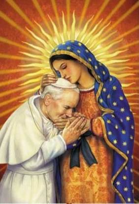 Pope John Paul II and Blessed Virgin Mary
