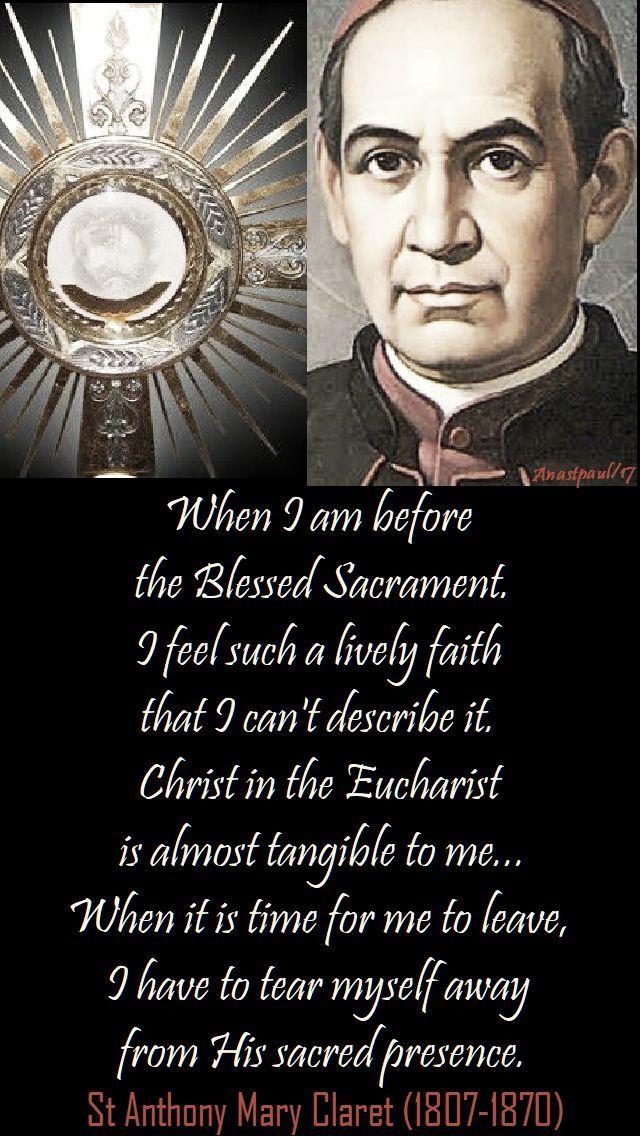 Quote on Eucharist by St. Antony Mary Claret