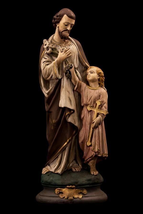 St. Joseph and Boy Jesus, Statue