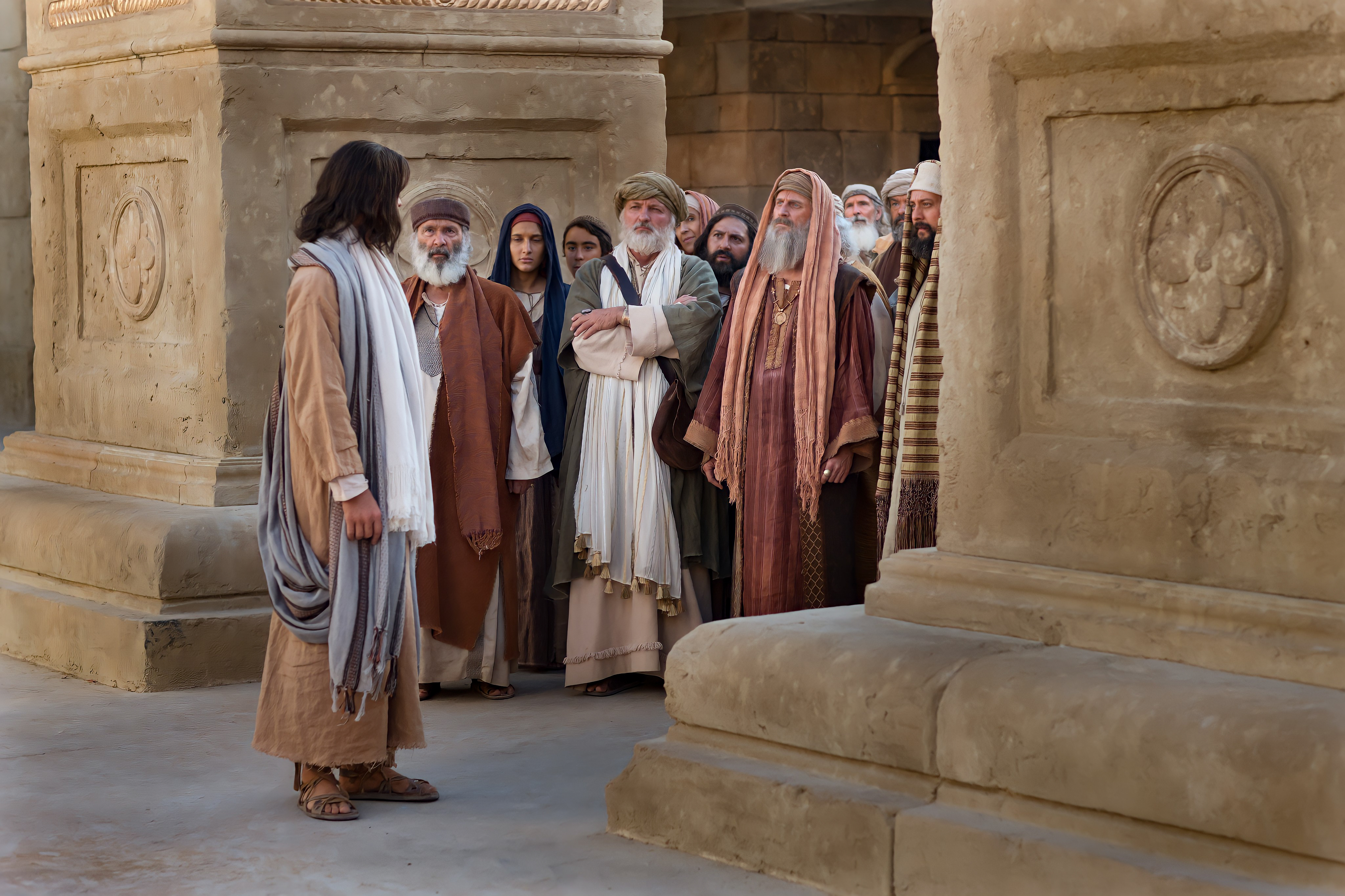 Jesus talking to the Chiefs