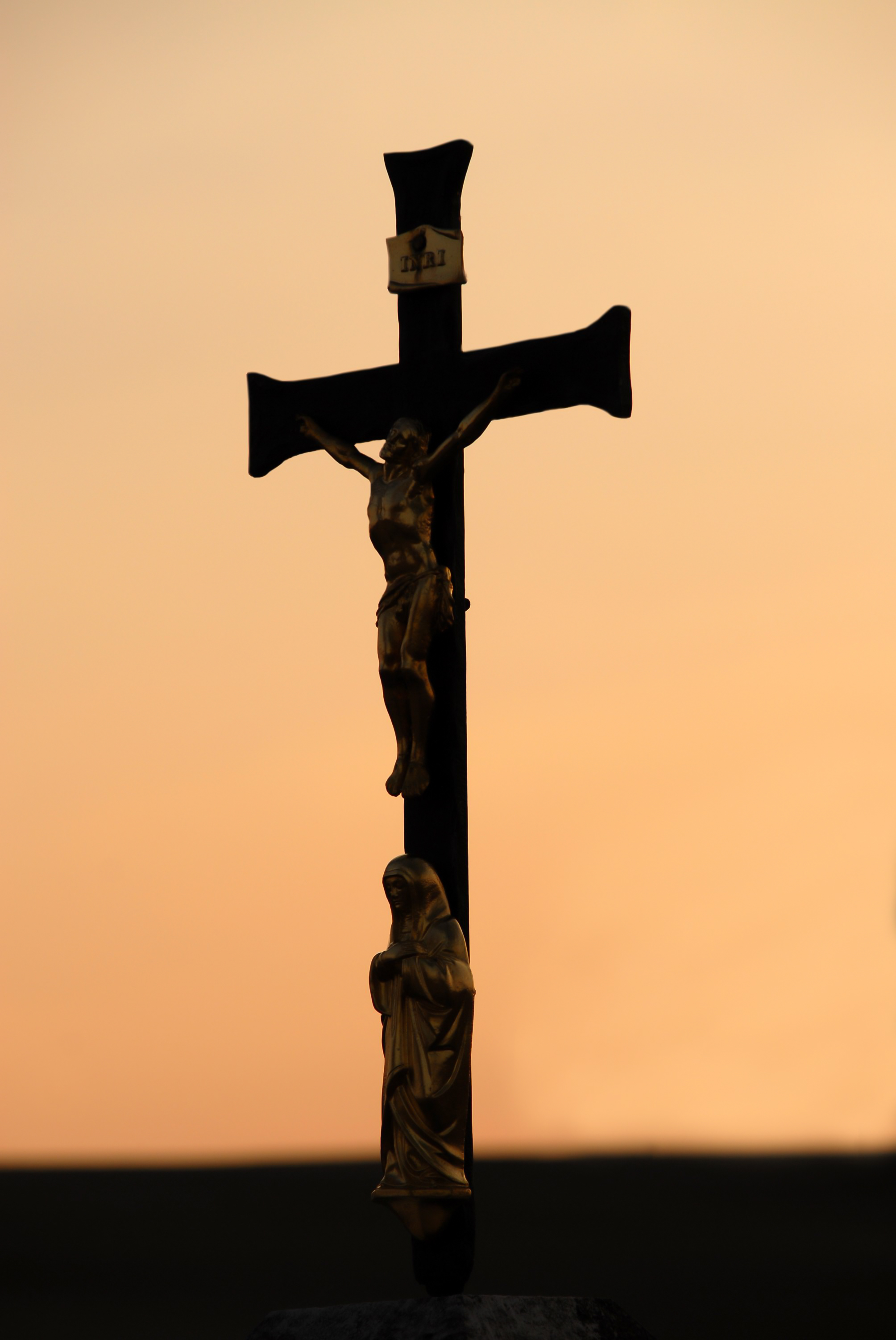 Crucifix with Mary